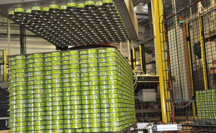 Canned products process -  Palletizing - Guelt