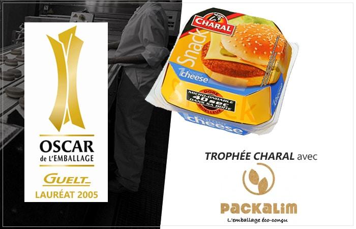 Guelt - Lauréat Oscar de l'Emballage 2005 avec Pack Alim pour le process pelliplacage des hamburgersCharal