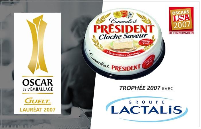 Guelt - Lauréat Oscar de l'Emballage 2007 avec Lactalis pour la cloche saveur