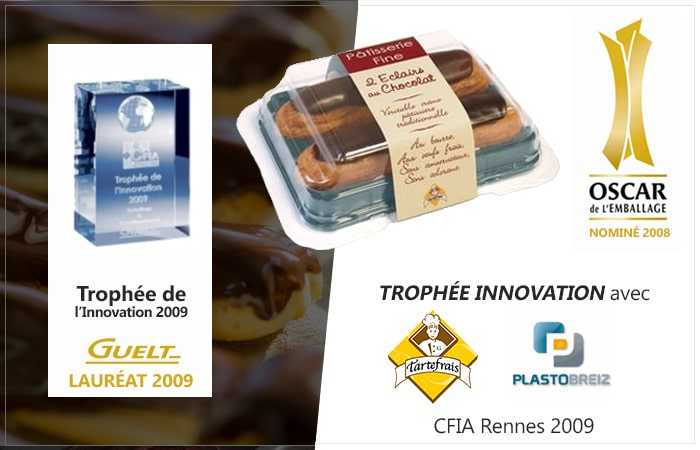 Guelt - Lauréat aux Trophées de l'Innovation 2009 - Procédé d'emballage ASCO avec Plastobreiz pour Tartefrais