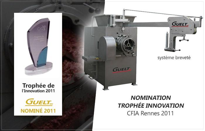 Guelt - Nominé aux Trophées de l'Innovation 2011 - système breveté pour le démontage des vis de hachoirs