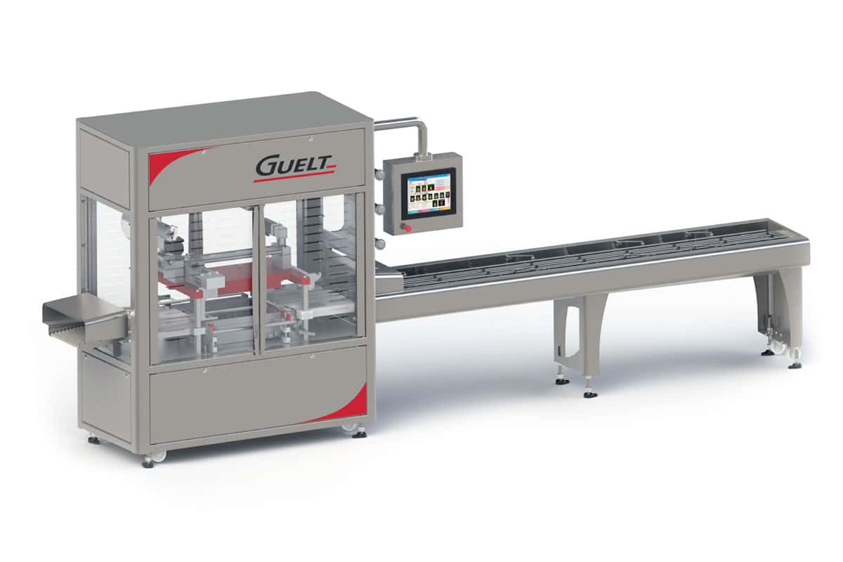 In-line automatic tray sealer OPP2000 - Guelt