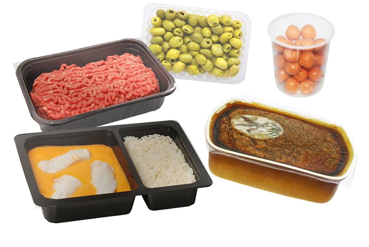 Examples of producted packed in a protective atmosphere - Tray sealing machines - Guelt
