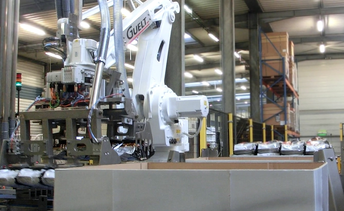 Bags robotized palletizing - Petfood - Guelt