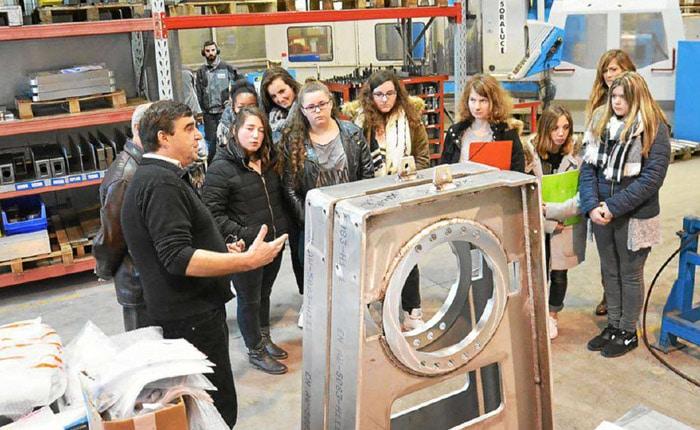 Visite des ateliers Guelt avec le responsable du service maintenance