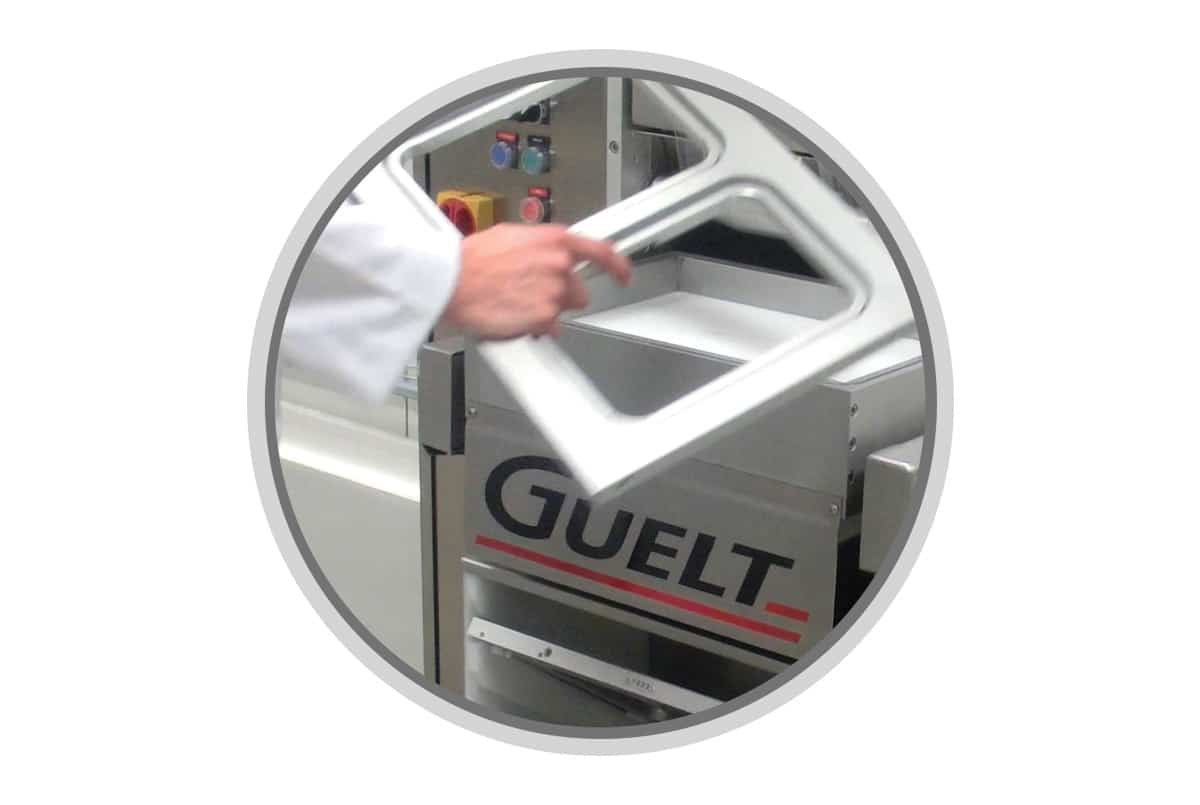 Semi-automatic tray sealer Guelt Premium 1000 - Very easy and fast format changeover