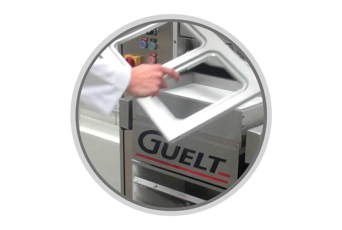 Operculeuse semi-automatique Guelt Premium 1000 - Changement d'outillage facile