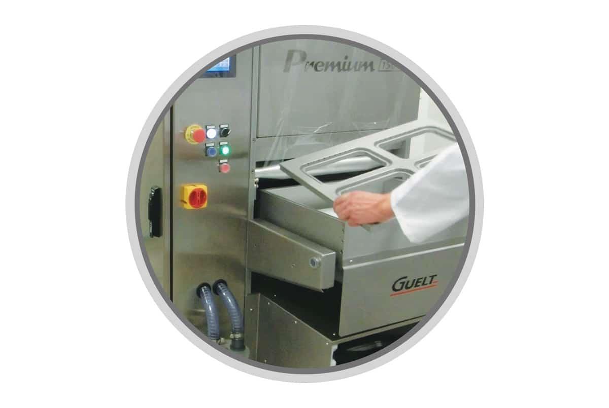 Operculeuse Premium 1500 Guelt - Changement d'outillage