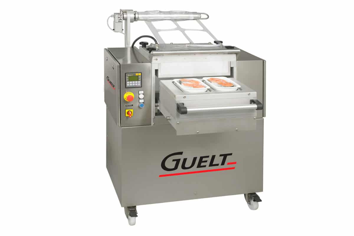 Tray sealer OPE1000C including a vacuum pump - Guelt