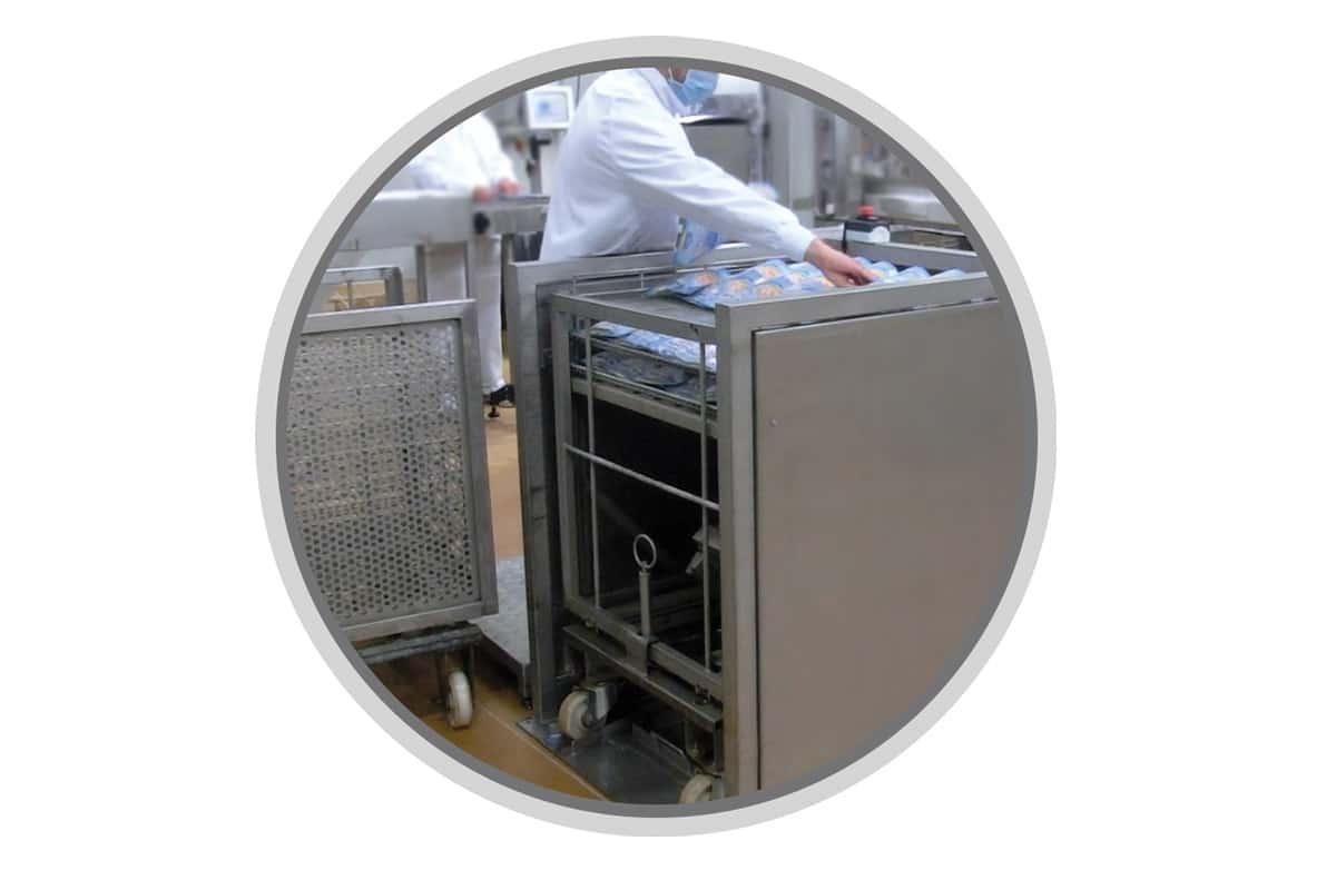 Manual retort rack loader - Guelt