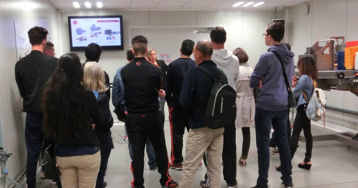 Des demandeurs d'emploi suivis par le CLPS Lorient en visite chez Guelt le 15 mai 2018
