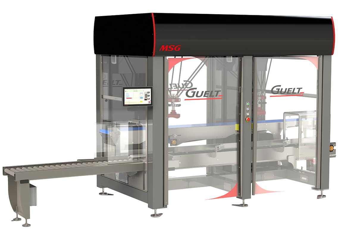 MSG Dual, technological module combining case forming and top-load robotized casing - Guelt