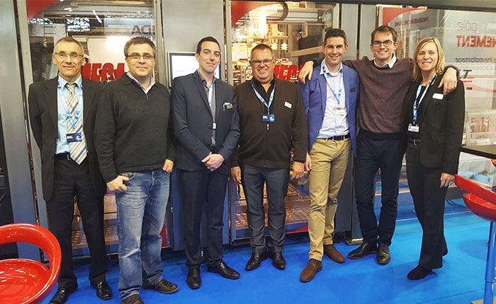 L'équipe commerciale sur le stand Guelt lors de l'édition 2017 de l'EPEM CFIA