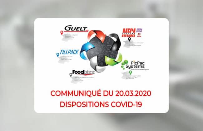 Communiqué du 20/03/2020 - Dispositions Covid-19