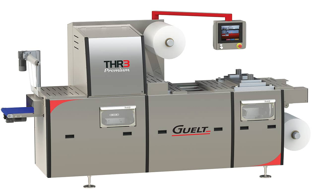 THR3 Premium - première thermoformeuse à changement de format automatique - Innovation Guelt