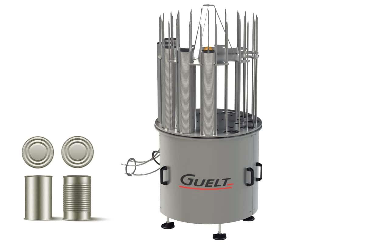 Guelt Conserverie - Alimentation automatique de fonds de boîtes de conserve