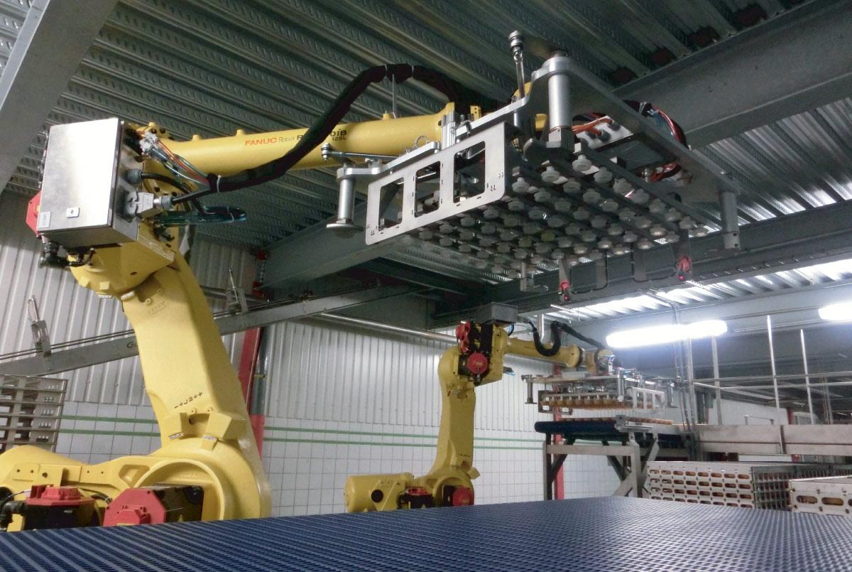 Guelt Conserverie - Enclayeur et déclayeur robotisés de pots