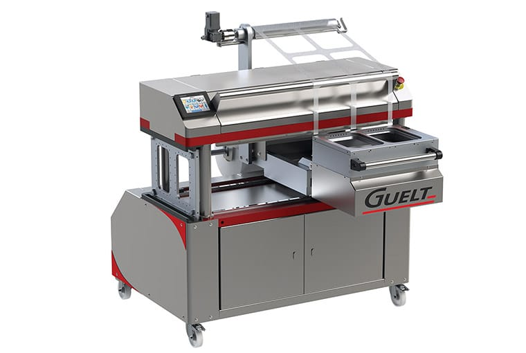 Guelt Conditionnement - Operculeuse Premium 1200, semi-automatique 2 formats