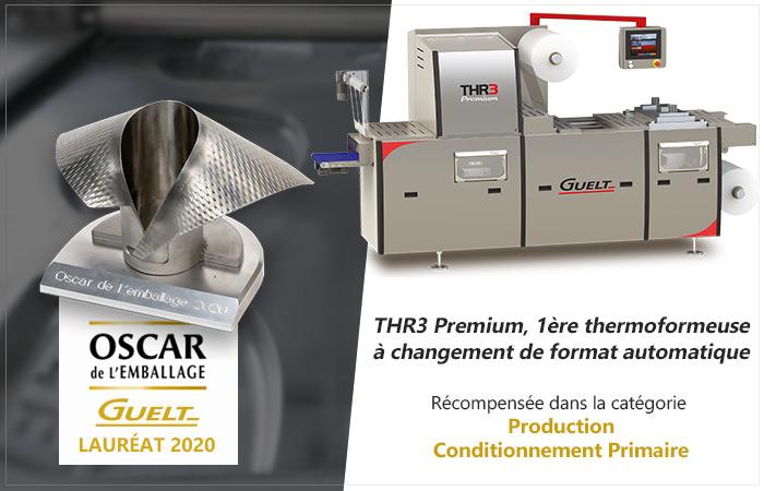 Oscar de l'Emballage 2020 - THR3 Premium lauréate de la catégorie Production - Conditionnement Primaire