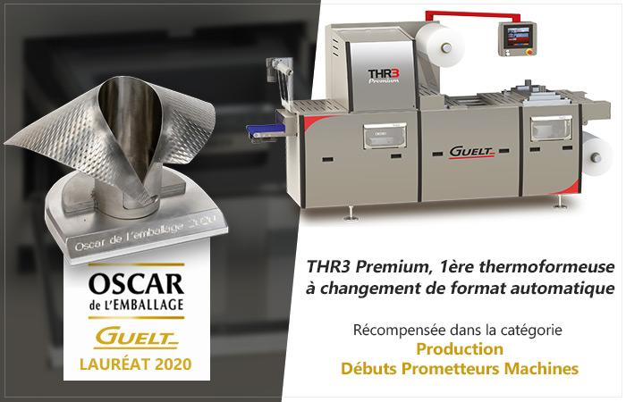 Oscar de l'Emballage 2020 - THR3 Premium lauréate dans la catégorie Production - Débuts prometteurs machines