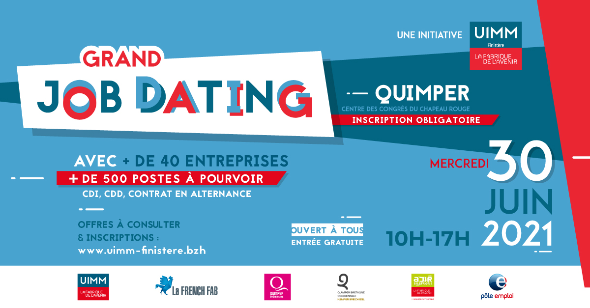 Guelt sera au Job Dating UIMM Quimper 30 juin 2021